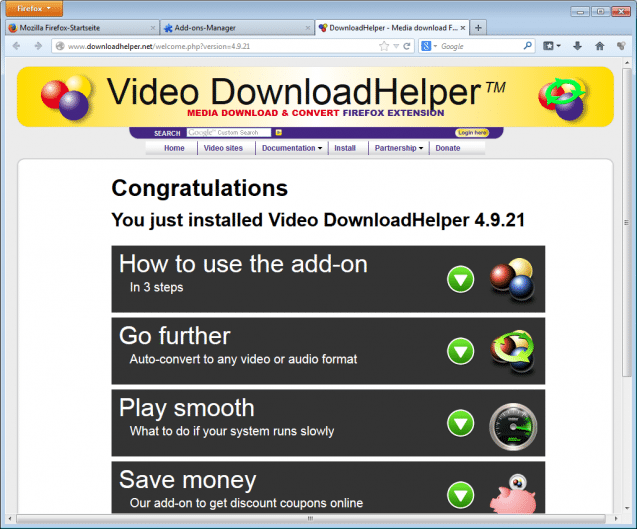chrome flash download helper