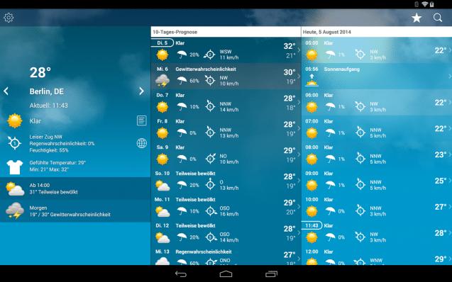 Wetter app als hintergrund iphone