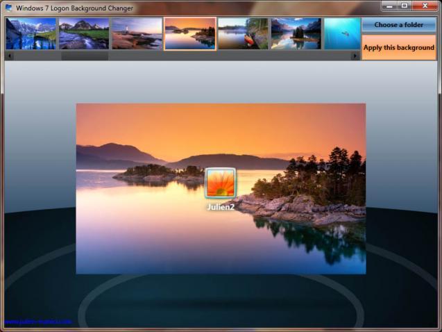 Windows  Logon Background Changer __