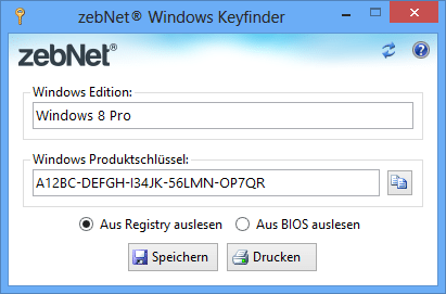 Windows Keyfinder | heise Download