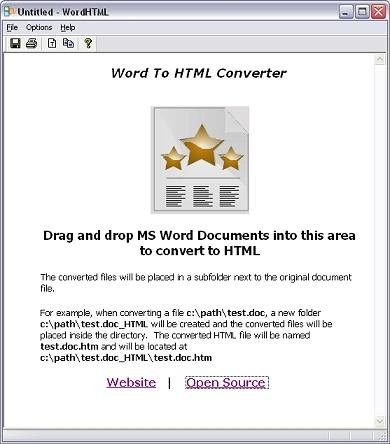 word to html converter