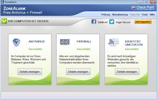 ZoneAlarm Free Firewall | heise Download