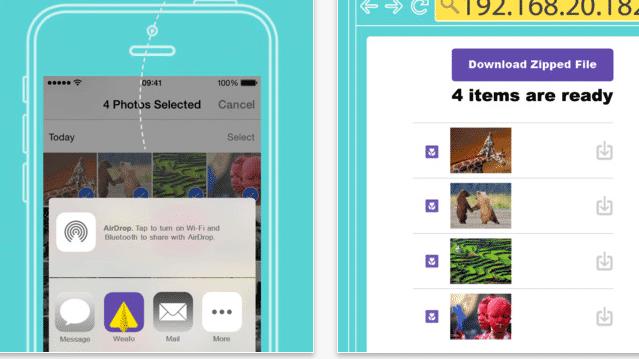 Weafo: Kostenlose iOS-8-Extension überträgt Dateien per WLAN