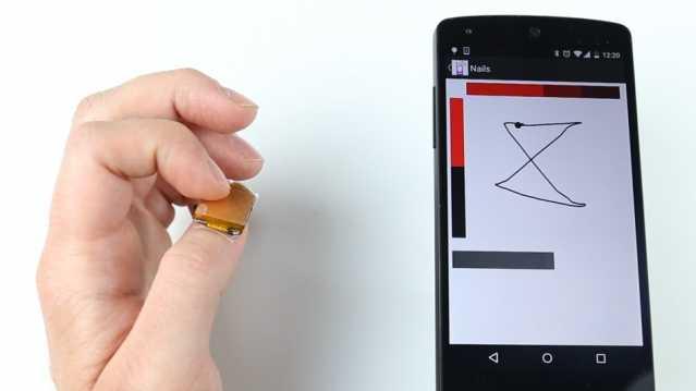 Sensoren auf dem Fingernagel