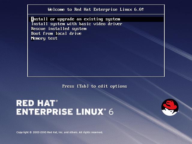 RHEL 6 muss auf Festplatte installiert werden; eine Live-CD gibt es nicht.