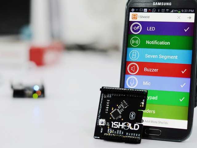 1Sheeld implementiert das Zusammenspiel von Arduino Boards mit Android-Geräten über Bluetooth
