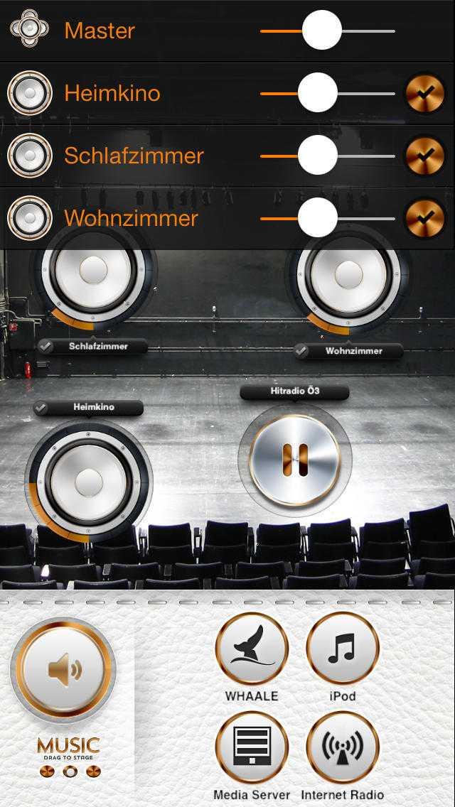 In der App lassen sich verschiedene AirPlay-Lautsprecher auswählen
