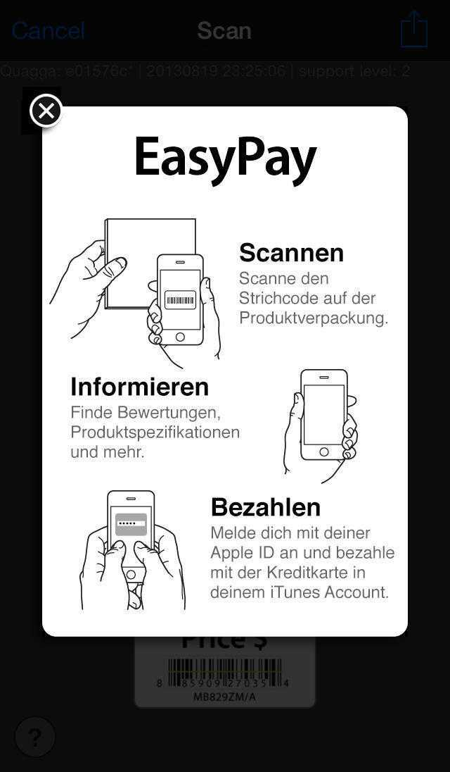 """Einkaufen mit Apples """"EasyPay"""""""