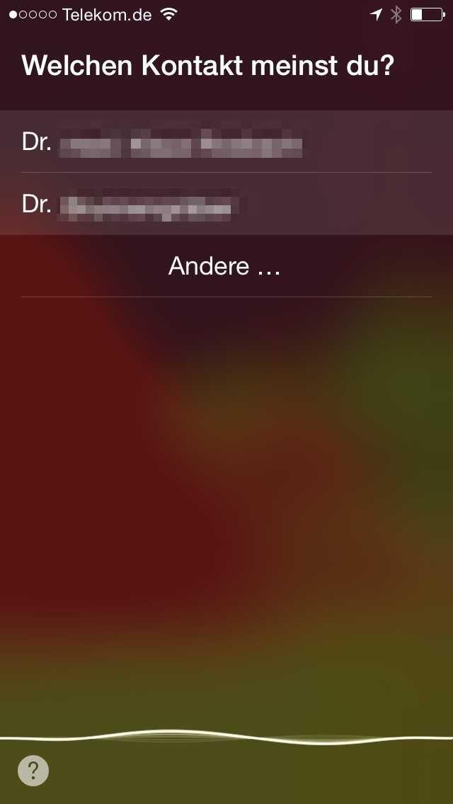 """""""Andere"""" gibt Zugriff auf die in iOS hinterlegte Adressliste"""