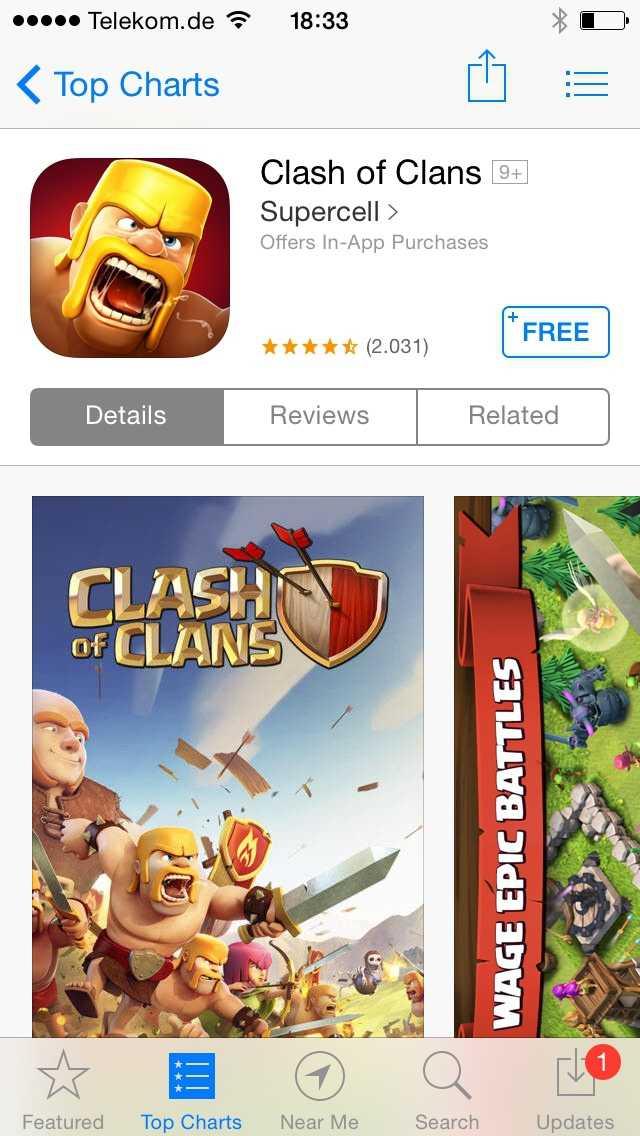 Durch die Zwangsumleitung landet man gewöhnlich bei Free-to-play-Titeln im App Store