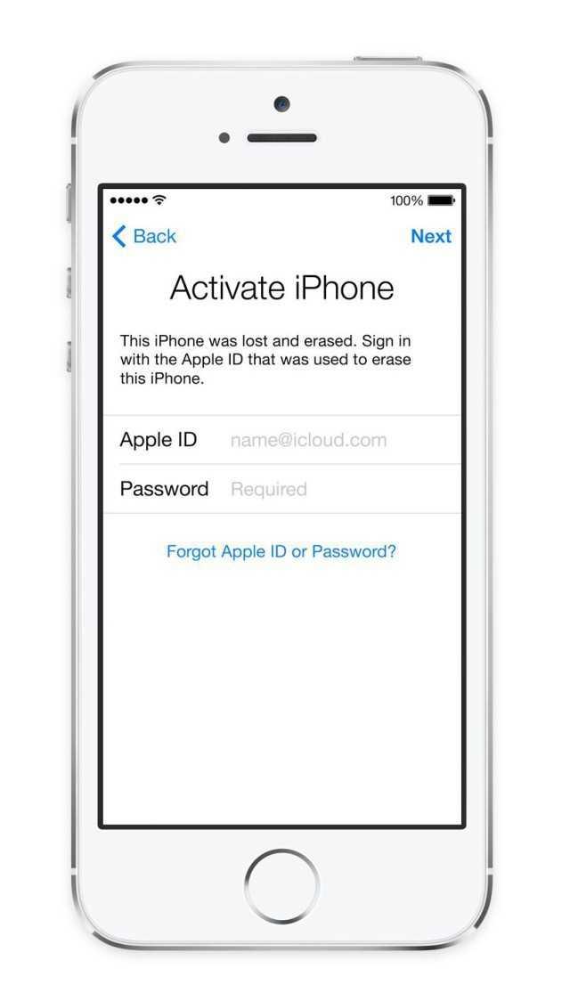 iPhone mit Aktivierungssperre.