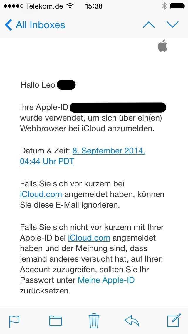 Suspekte Logins auf iCloud.com führen nun auch zu einem Warnhinweis