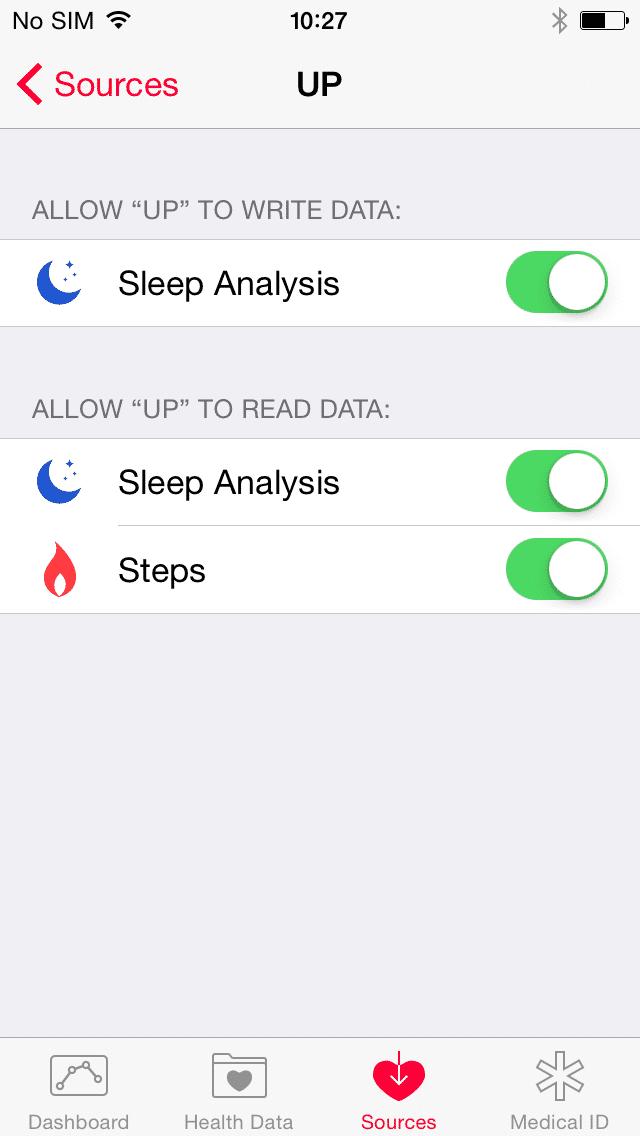 Der Nutzer muss den Apps jeweils erlauben, auf welche Health-Daten sie zugreifen dürfen