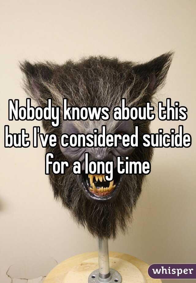 Selbstmord-Gedanken bei Whisper