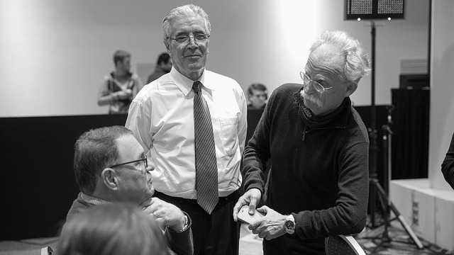 Lawrence Strickling, Kavouss Arasteh und Michael Niebel: 53. ICANN-Tagung