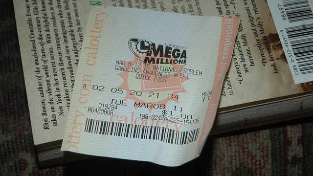 Lottoschein USA