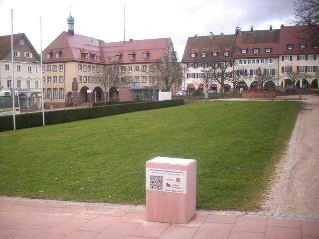 Geodätischer Referenzpunkt in Freudenstadt im Schwarzwald