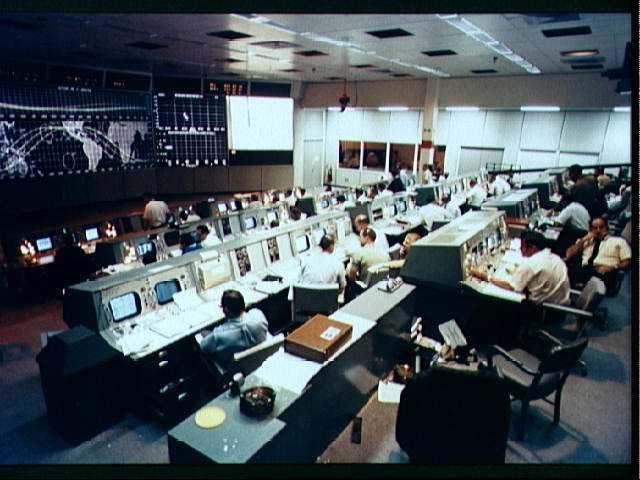 Das Kontrollzentrum während der Mission