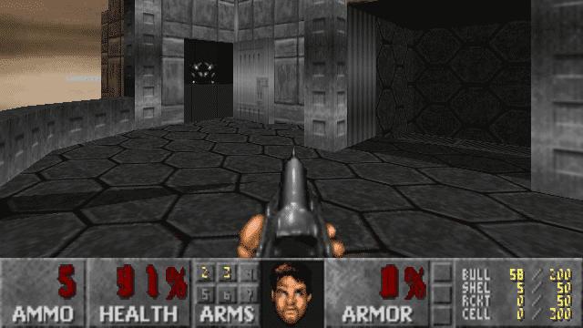 Screenshot des DOOM-Klons Freedoom
