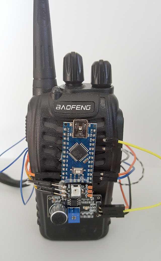 Babyphone mit Arduino und Sensorshield von vorn