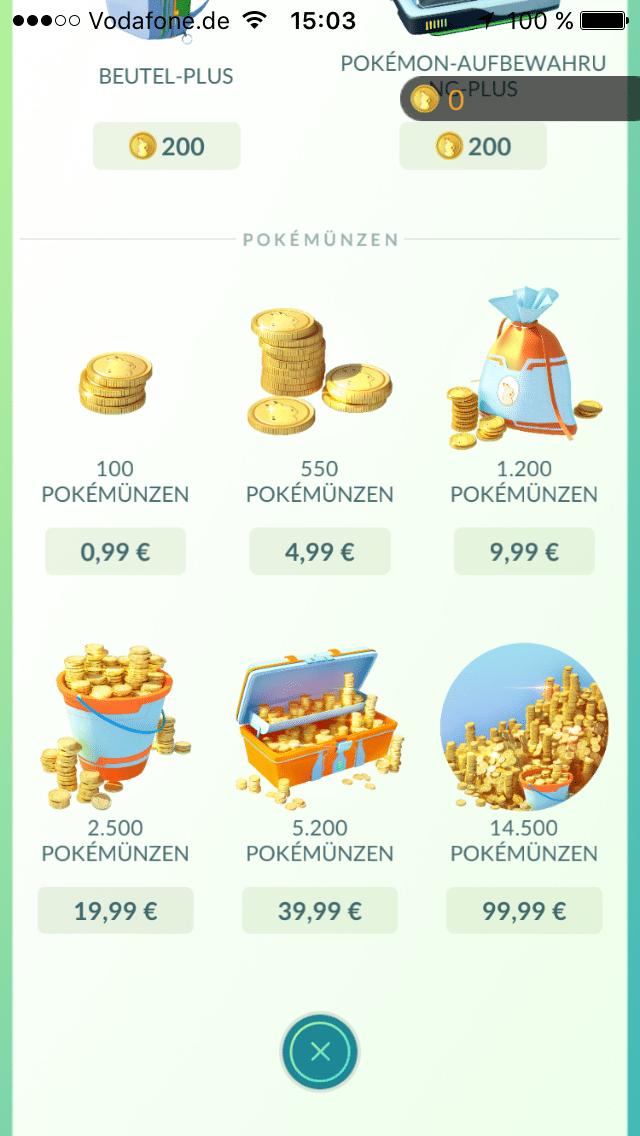 Teure Pokémünzen: Bis zu 100 Euro kosten die Pakete für Pokémünzen.