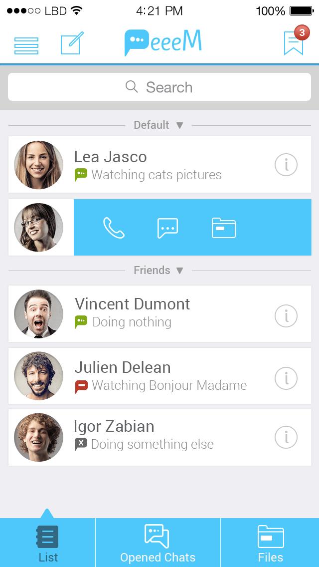 PeeeM bietet einen anonymen Messenger an, der keine Chat-Protokolle auf Server speichert. Kontaktinfos bleiben auf dem Smartphone.