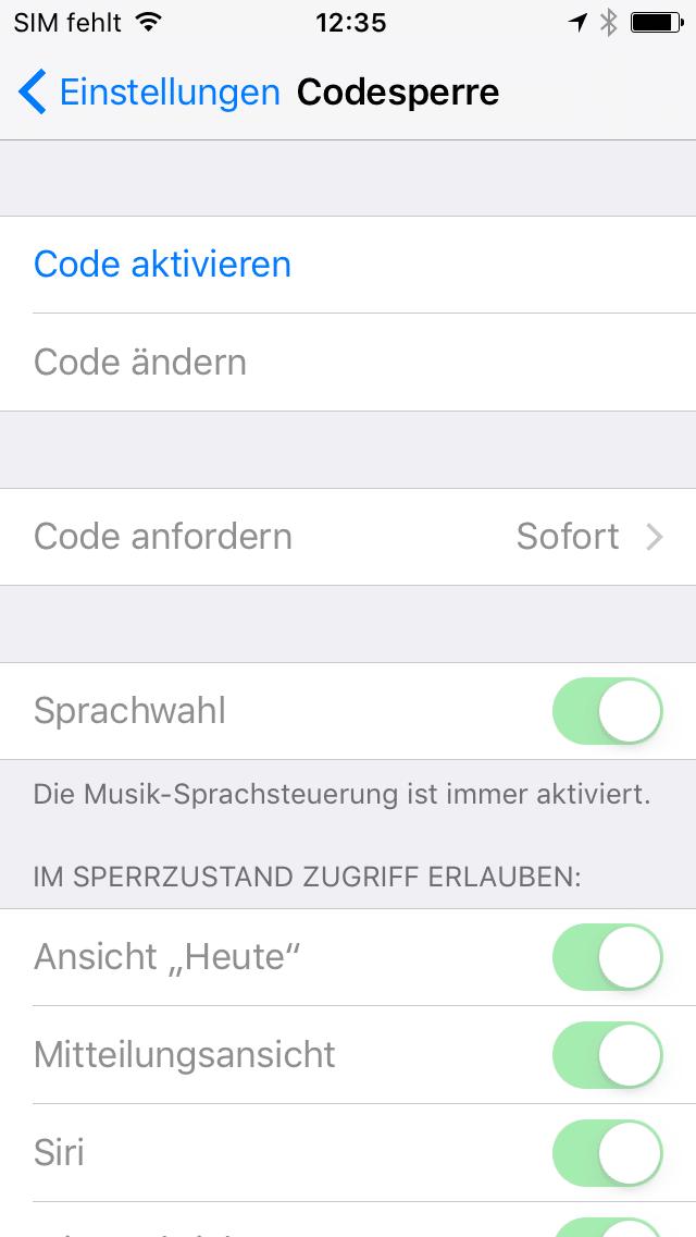 Auf Geräten ohne Touch ID schnell nervend, aber essentiell: Die Codesperre schützt iPhone und iPad.