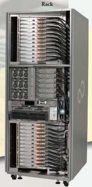 Mit 10 PFlops ist der japanische K Computer, der aus 800 solcher Racks mit je 24 Boards besteht, weiterhin Spitzenreiter under den Supercomputern