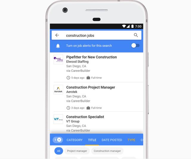 KI hilft Google, passende Jobs direkt in der Suche anzubieten.