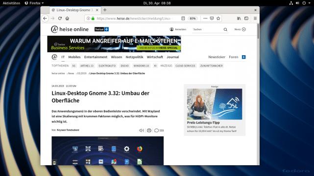 Fedora 30 glänzt mit schickem Start und Performance