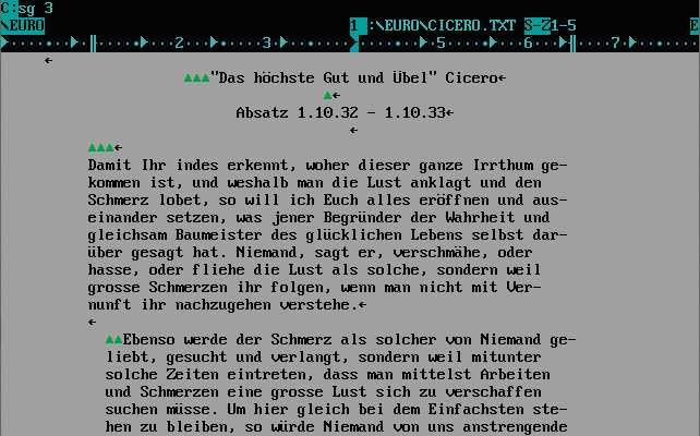 Eine kleine Geschichte der Textverarbeitung
