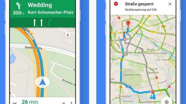 Google-Maps-App mit besserer Nahverkehrsunterstützung