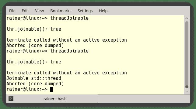 A neuer Thread mit C++20: std::jthread