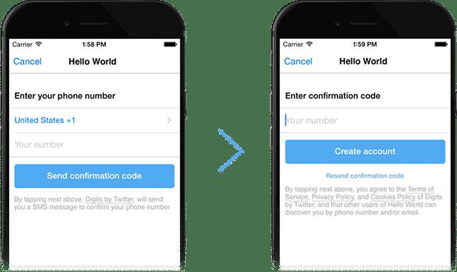 Registrierung ohne Passwort-Frust: Im einfachsten Fall genügt es, die Handynummer und den per SMS zugestellten Bestätigungscode einzugeben.