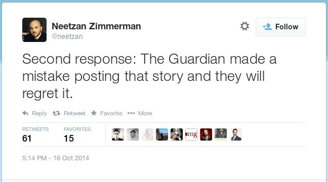 Zimmerman-Tweet