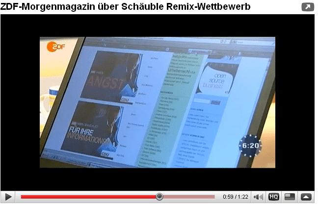 Auch das ZDF-Morgenmagazin berichtete bereits über den Remix-Wettbewerb