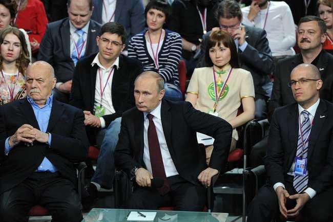 """Putin auf einer Veranstaltung zu """"freien Regional- und Lokalmedien"""""""