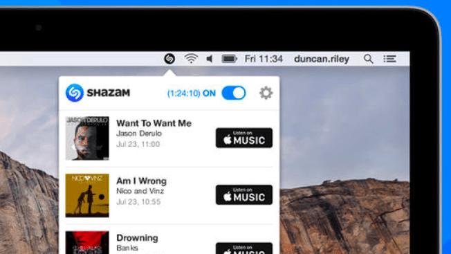 Shazam auf dem Mac