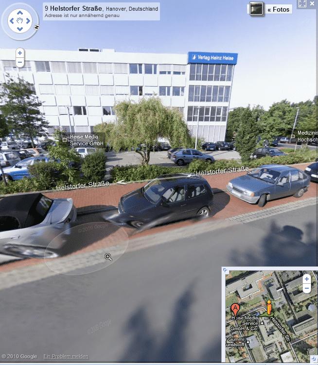 Heise-Verlag in Street View