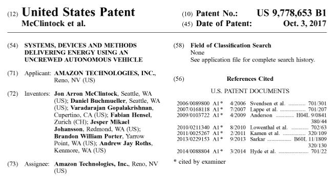 Titelblatt des Patents