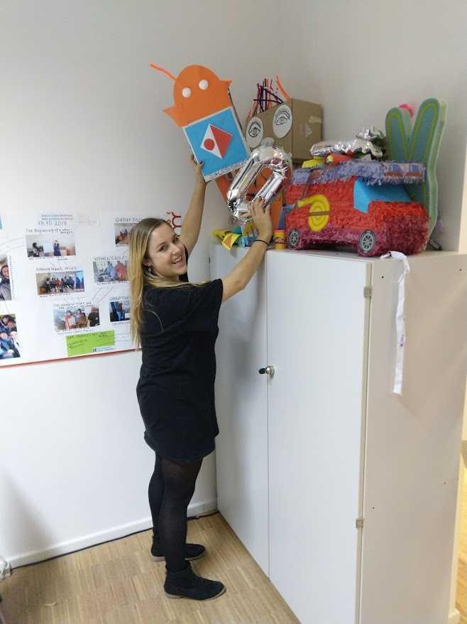 Sophie Jonke im ReDi-Büro