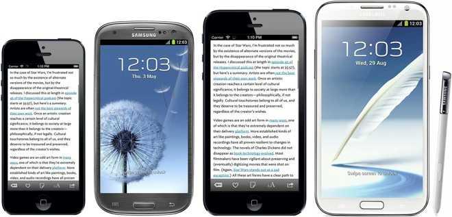 """Wie ein """"iPhone 6"""" im Vergleich zur Samsung-Konkurrenz aussehen könnte."""