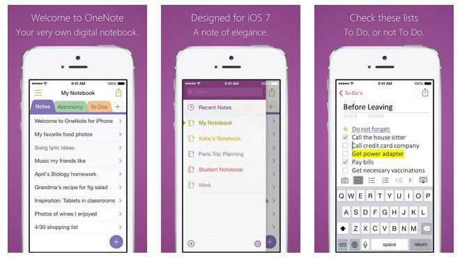 Microsoft: Outlook mit Touch-ID, OneNote mit Evernote-Import