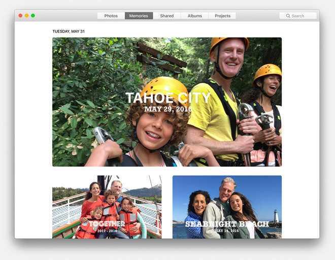 Die Fotos-App erstellt automatische Bildkollektionen zu Ereignissen.