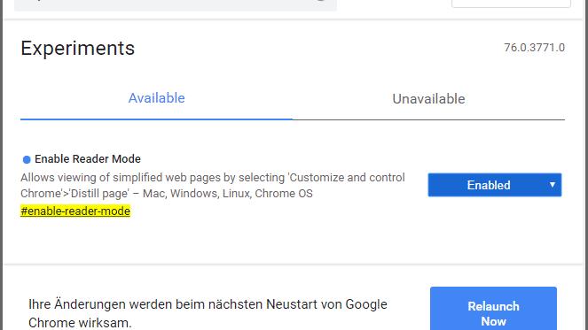 Google Chrome: Browser bekommt bald Lesemodus