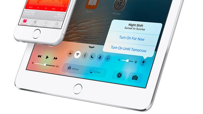 iOS 9.3: Night-Shift-Button für Kontrollzentrum geplant
