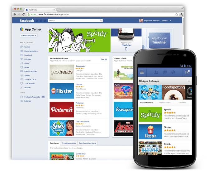 Facebooks App center