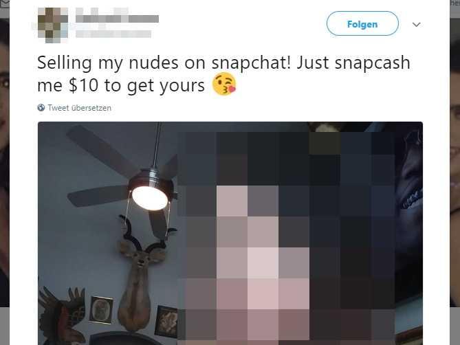 Nacktfoto-Verkauf auf Snapchat, Bezahlung via Snapcash.
