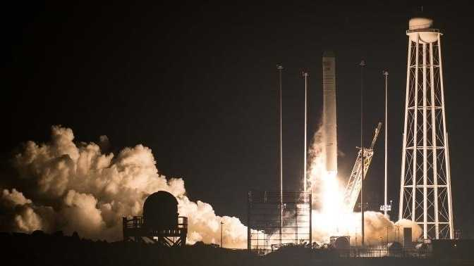 """Privater Raumfrachter """"Cygnus"""" zur ISS gestartet"""