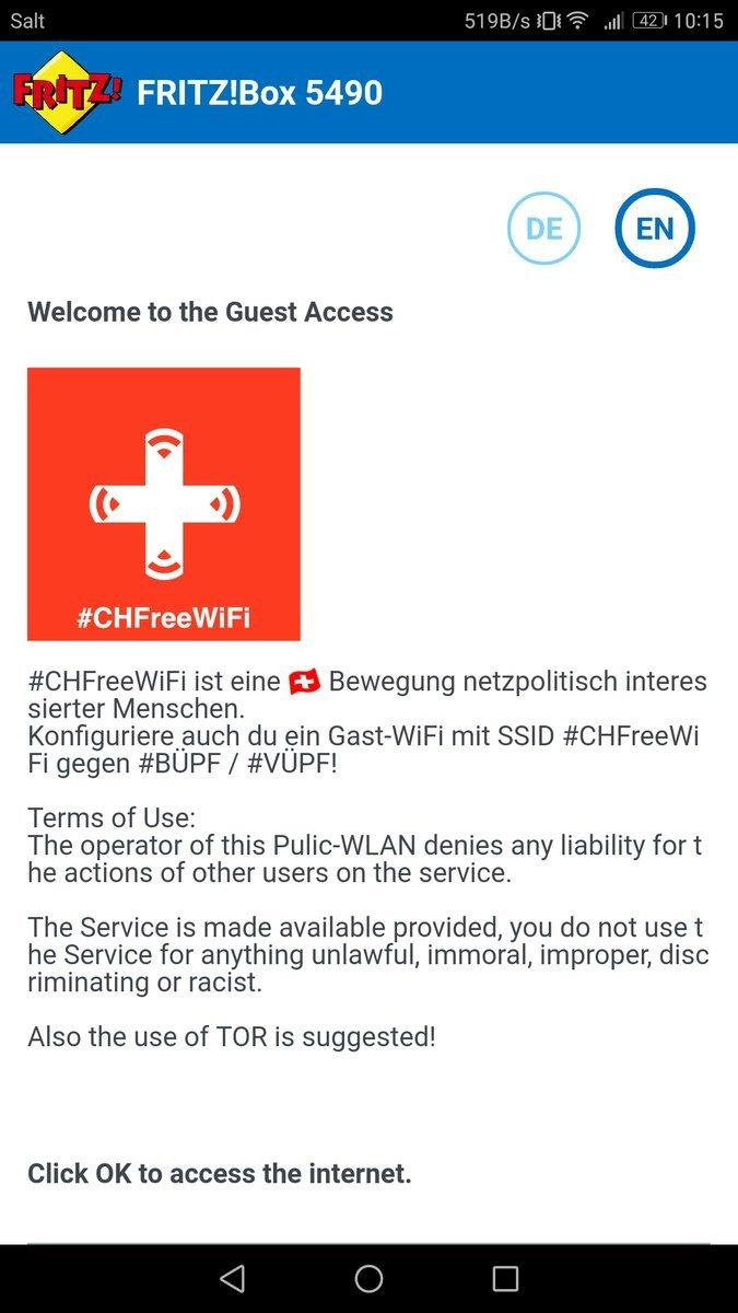 #CHFreeWiFi: Protest gegen Einschränkungen für offenes WLAN in der Schweiz